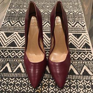 "Banana Republic 4"" Maroon Heels Size 10"